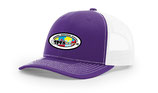 Purple hat w / white mesh