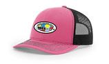 Pink hat w/ black mesh
