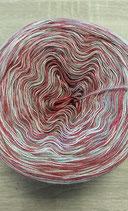 Wollie grau-rot meliert