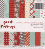 "Carta ""American Crafts"" 30x30 Good Tidings"