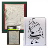 EMBOSSING FOLDER DARICE 1219-422 SANTA CLAUSE