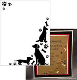 EMBOSSING FOLDER DARICE 1218-110 DOGS AND PAWS