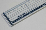 Ruler transparant 40cm with metal edge 860515/8112