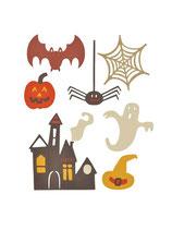 Fustella Sizzix Thinlits Die Set - Spooky Halloween set 7PK  My life handmade 661325