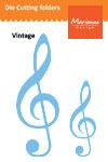 Fustella Marianne Design MARLR0167 Music Key