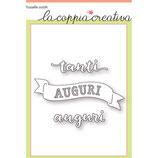 Fustella Coppia Creativa S35 Tanti Auguri Banner