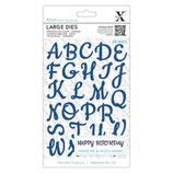 Fustella XCUT 504081 Script Alphabet Upper Case