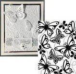 EMBOSSING FOLDER DARICE 1219-207 BUTTERFLIES