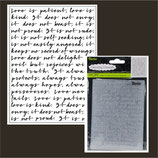 EMBOSSING FOLDER DARICE 30008375 SCRIPT BACKGROUND