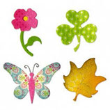 BUTTERFLY, FLOWER, LEAF, SHAMROCK A10600