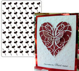 EMBOSSING FOLDER DARICE 1215-61 HEARTS DIAGONAL