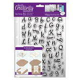 Clear Stamp Set- Script Alphabet DCE907136
