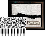 EMBOSSING FOLDER DARICE 1219-130 PIANO NOTES