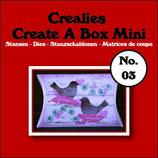 Fustella Crealies Pillowbox mini n. 3