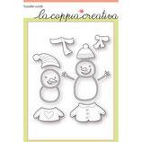 Fustella Coppia Creativa f40 pupazzi di neve