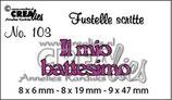 Fustella Crealies CLFS 103