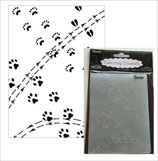 EMBOSSING FOLDER DARICE 1218-114 ANIMAL TRACKS