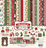 "STORY OF OUR CHRISTMAS COLLECTION KIT 12""X12"" Echo Park EPTSC94016"