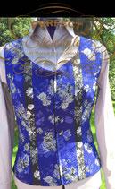 Weste Blau-Grau mit 2 Blusen