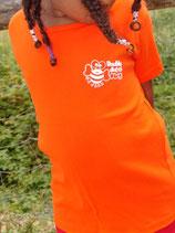 "T-shirt femme ""love"" orange taille S"