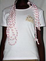"T-shirt femme ""IDDC2007"" blanc"