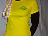 "T-shirt femme ""IDDC2007"" jaune taille S"