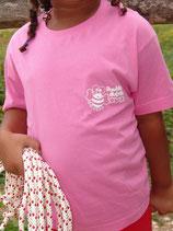 """T-shirt enfant """"love"""" rose foncé"""