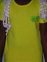 "T-shirt femme ""love"" jaune"