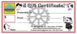 NEW ITEM!! Professor Gizmo's Gift Certificates!!