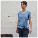 "Ladies Bavariashirt ""Blau hoch 2"""