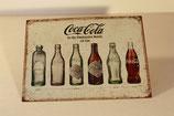 Plaque métallique Cola history