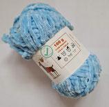 100 g Baby Wolle Velours hellblau