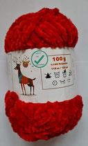 100 g Babywolle Chienille Velours rot FarbNr.203-20