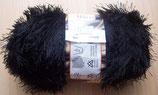1/2 kg= 500 g Fransengarn Fransenwolle schwarz 201