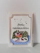 """Grußkarte """"Frohe Weihnachten"""""""