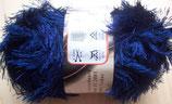 1/2 kg = 500 g Fransengarn Fransenwolle blau 208