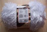 1/2 kg = 500 g Fransengarn Fransenwolle weiß 202