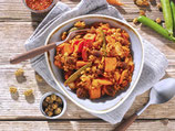 Süßkartoffel-Harissa-Pfanne
