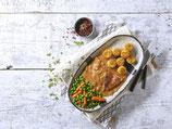 Zwiebel-Sahne-Hähnchen mit Kartoffelrösti
