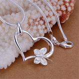 Herz mit Schmetterling