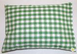 Gute Nacht Kräuterkissen grün Karo