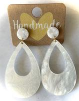Ohrhänger CLASSIC DROP  cotton white