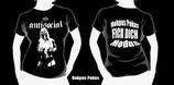 Hokpus Pokus Fich Dich Modus Girlie Shirt - schwarz