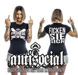 Ficken Sie Sich Girlie Shirt - schwarz oder weiß
