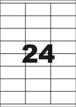 Adresetiketten 70 x 37 mm - 360 stuks