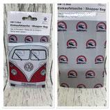 VW T1 Bus Shopper Tasche, faltbar - VINTAGE LOGO/GRAU