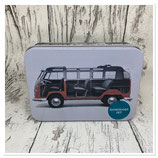 VW T1 Bus Domino Set in Metalldose