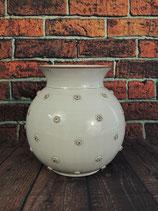 Bauchig Vase mit aufgelegten Magaritten