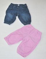Cordhose rosa + Jeans Gr. 68