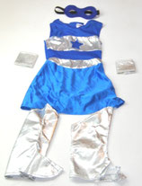 Kostüm, blau/silber